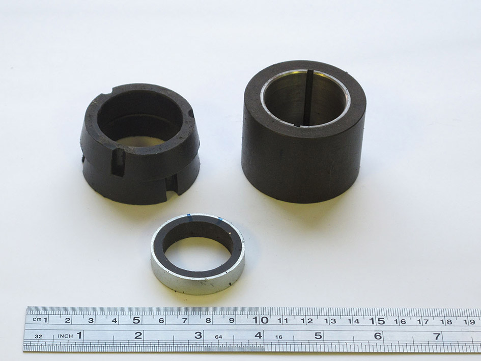 Process for production of bonded magnets from REM alloys was developed and commercialized