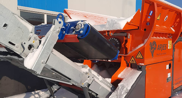 «ERGA» has equipped Arjies shredders (Germany) with SMPA automatic suspended iron separators