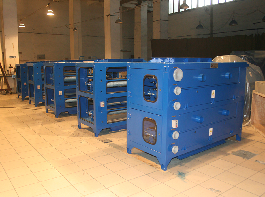 Complex equipping of glass factories with magnetic separators was launched