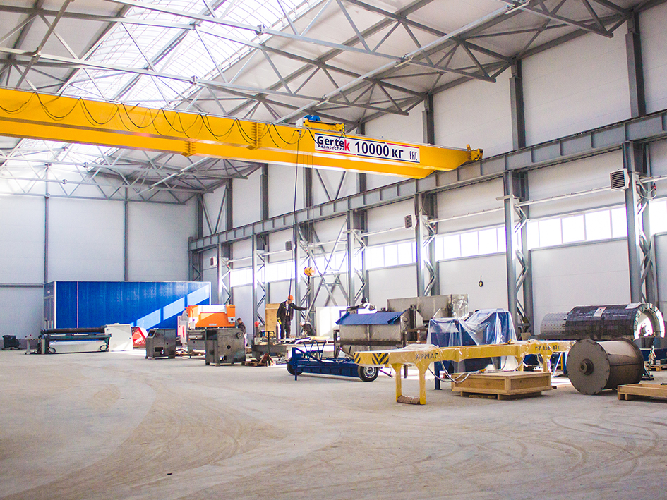 A new workshop for the production of large-sized equipment with 2000 sq.m area was opened