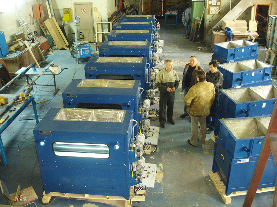 Magnetic separator type ERGA SMVI for beneficiation of hematite concentrate was produced